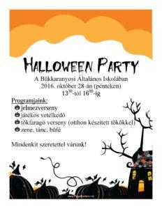 Halloween Party meghívó